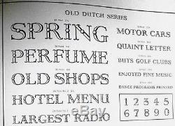+++ Nouveau 14pt Old Neerlandais, Rare Bb & S Face, Neuf Typographie En Métal Type Dbl Figs