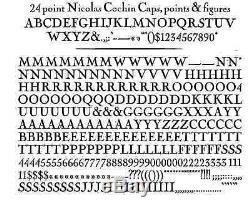 Nouveau Letterpress Type- 24 Points Nicolas Cochin, Police Complète