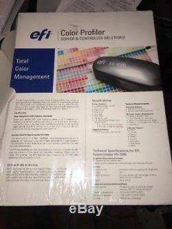Nouveau Profileur De Couleurs Pour Le Kit Efi Spectrometer Es-1000. Lisez S'il Vous Plaît