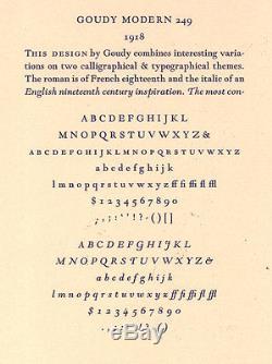 Nouveau Type De Typographie - 12pt. Goudy Modern, Police Complète