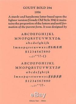 Nouveau Type De Typographie - 12pt. Goudy Old Style Bold Police Complète
