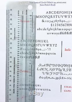 Nouveau Type De Typographie - 18pt. Goudy Roman Avec Doublure Et Personnages De Style Ancien