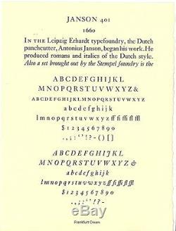Nouveau Type Typographique-12pt. Janson