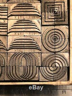 Ombree Décorations Décoratives Letterpress Metal Border Corner Press Imprimer Dingbat