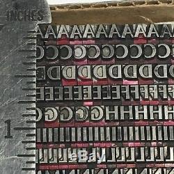 Optima Bold 14 Pt Letterpress Type D'imprimante Vintage
