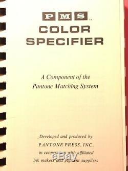 Pantone Système Marching Couleur Specifier Designers Édition 1964 Great Condition