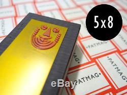 Patmag 5 X 8 Pouces Bases Pour Plaques Photopolymères