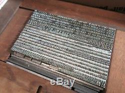 Plomb 10 Letterpress Type Pt. Caslon Openface Barnhart Brothers & Spindler D55