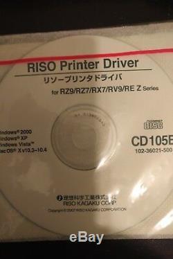 Riso Risograph Rz990u Copieur Haute Vitesse