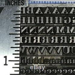 Roman 12 Pt Engravers Typo Vintage Type D'impression En Métal Trie Police