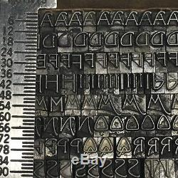Salutations Monotone 12 Pt Type De Typographie Vintage Plomb De L'imprimante