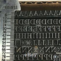 Sièges D'impression De Caractères En Métal Vintage, Type Expanded 12 Pt Century Expanded
