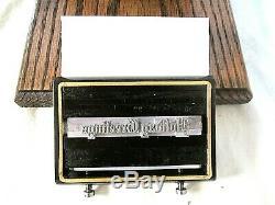 Sigwalt Chicago # 10 1 Rouleau D'impression Typo Mint Condition Set Up + Extras