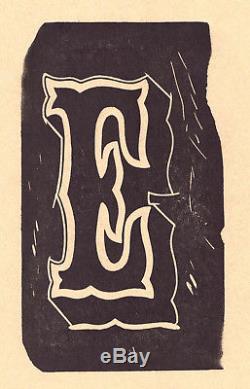 Spécimen De Fonderie En Bois De Qualité Ornementale Gravée À La Main De Qualité Musée De 1840