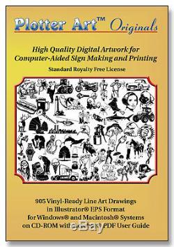 Traceur Art Originals, Images Vectorielles Prêt Pour Traceur 905, Licence Standard
