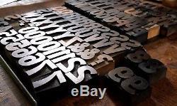 Type Antique Antique Letterpress Bois 120 Pt 111 Pc Complet 1 3/4 Po