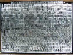 Type D'impression Typographique Vintage Metal 18pp Goudy Texte D23 7 #