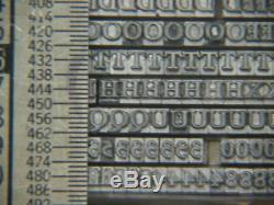 Type D'imprimantes De Type Typographique Garamond Bold 10 Pt En Métal