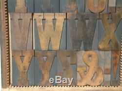 Type De Bois 30 Letterpress Ligne / 5 Pouces Antique Complet Cap Font 66 Pièces
