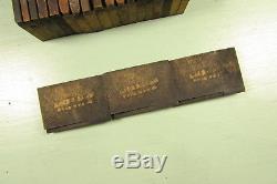 Type De Bois Américain Typographique Wt Blocs Français Clarendon 1-3 / 8 Pouces Majuscules