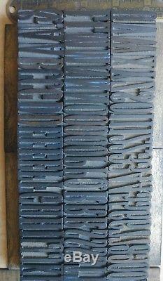 Type De Bois Antique X Condensé Vandercook Letterpress Printing 1.3