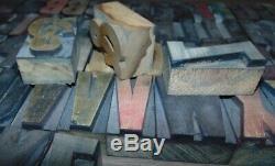 Type De Bois Font 2 Pouces Typo Imprimantes Type