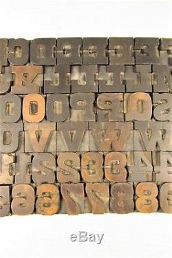 Type De Bois Typographique Blocs Antique 1 Pouce Chiffres Majuscules
