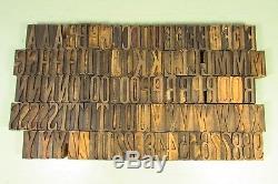 Type De Caractères D'impression Latine En Bois Type 1-5 / 8 Pouces Chiffres En Majuscules