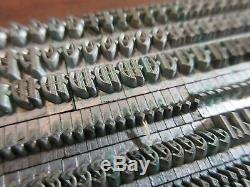 Type De Letterpress Plomb 18 Pt. Waldorf Texte Barnhart Brothers, Et Spindler D62
