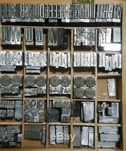 Type De Métal Presse Lettres / Caps & LC + Numéros / Symboles Kwikprint Kingsley Lot Énorme