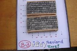 Type De Typographie 24 Pt. Neuland Rare