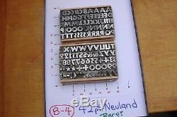 Type De Typographie 42 Pt. Neuland Rare