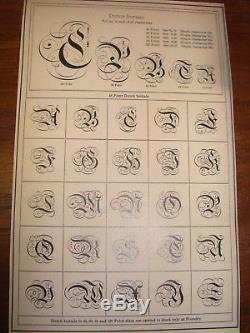 Type De Typographie 60 Pt. Initiales Hollandaises A. T. F. Extrêmement Rare