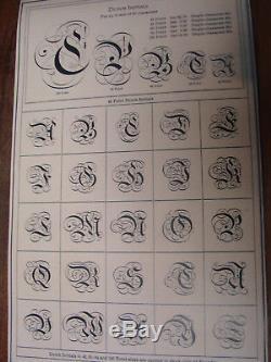Type De Typographie 84 Pt. Initiales Hollandaises A. T. F. Extrêmement Rare