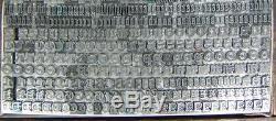 Type Vintage D'impression Typographique En Métal 18pt Goudy Texte D21 7 #
