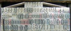 Type Vintage Impression Typographique Métal 36pt Touristique Gothique Withalts D15 8 #