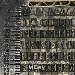 Typo Romain Ombré 14 Pt -atf 481 Type De Typographie Vintage Plomb De L'imprimante