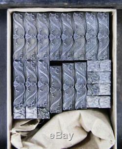 Typo Vintage Type D'impression D'importation Sb 18pt Victorienne Scrolls Corners F93 2 #
