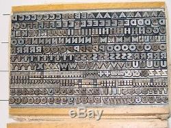 Typographie Type 18 Pt. Roman Gothique (police Atf Vintage En Excellent État!)
