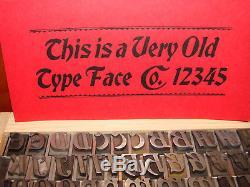 Typographie Type 48 Pt. Bradley Italic Atf, Vers 1898 (rare!)