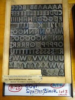 Typographie Type 60 Pt. Spartan Black (trois Boîtes De 8 1/2 X 11)