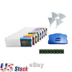 Usa-epson Stylus Pro 4880 Cartouches D'encre De Recharge 8pcs Avec 4 Entonnoirs, 8 Puces