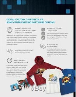 Version Digital Factory 10 Oki Édition Rip Logiciel Par Cadlink Idéal Pour T-shirt