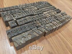 Vintage 1 Lettres Alphabet Letterpress Minuscules Blocs D'impression Type De Bois