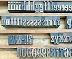 Vintage 208 Bois Letterpress Type D'impression Bloc Lettre Majuscules Numéro 1