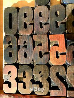 Vintage 31 Chiffres Bois Letterpress Imprimer Type 3 3-5 / 16 Lot Printing Press