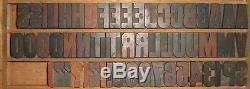 Vintage Anglais Grande Presse À Imprimer En Bois Letterpress Block Folio MIX Lot Bois 16