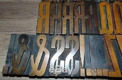 Vintage Bois Letterpress Blocs D'impression Type 3 5/16 Grand