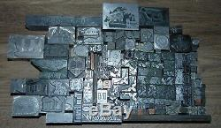 Vintage Lot De All Metal Typo Impression Imprimantes Blocs