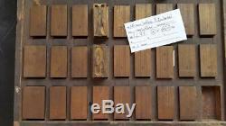 Vintage Typo Ludlow Matrice Mat 144pt Gothique X- Condensé Ll71 22 #